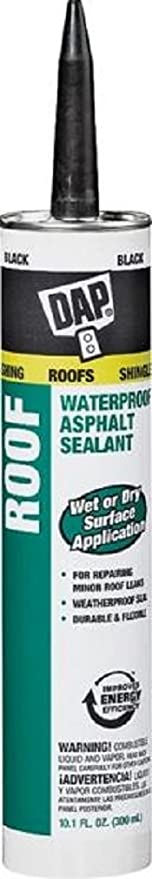 Dap 18268 12 Pack 10 1 Oz Roof Waterproof Asphalt Filler And Sealant Black Amazon Com