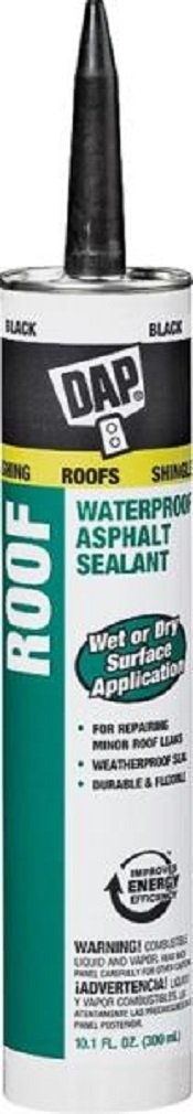 Dap 18268 12 Pack 10.1 oz. Roof Waterproof Asphalt Filler and Sealant, Black by DAP