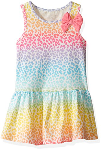 The Children's Place Baby Girls' Sleeveless Casual Dresses, Caribbean Leopard 7136, 18-24 Months