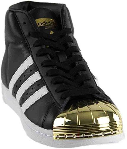 adidas Women's Promodel Metal Toe in Black White Gold Size 5.5
