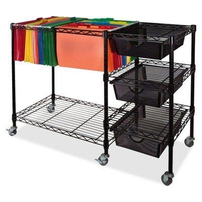 Advantus® Mobile File Cart with Drawers, 38-1/2w x15-1/4d x 24h, Black