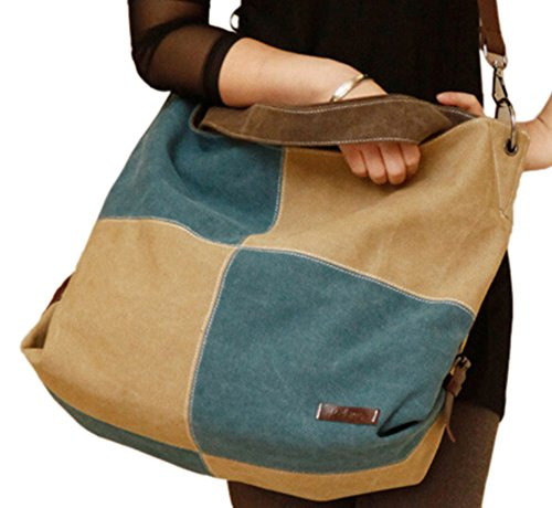 Women's Hobos Blue Women Bags DATO Handbags Handle Body Cross for Fashion Bags Top Retro Bags Shoulder Canvas Tote Multifunction Casual R8qwFqH