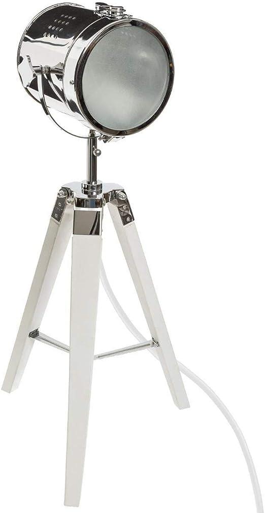 Atmosphera – Lámpara Proyector (Metal y Madera Cepillado Blanco ...
