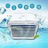 Personal Air Cooler with Water Tank and 3 Fan Speed, Table Fan, Portable Fan, Mini Fan, Office, Home, USB. Box Fan, Cooling Fan, Desktop Fan, Evaporative Cooler (White)