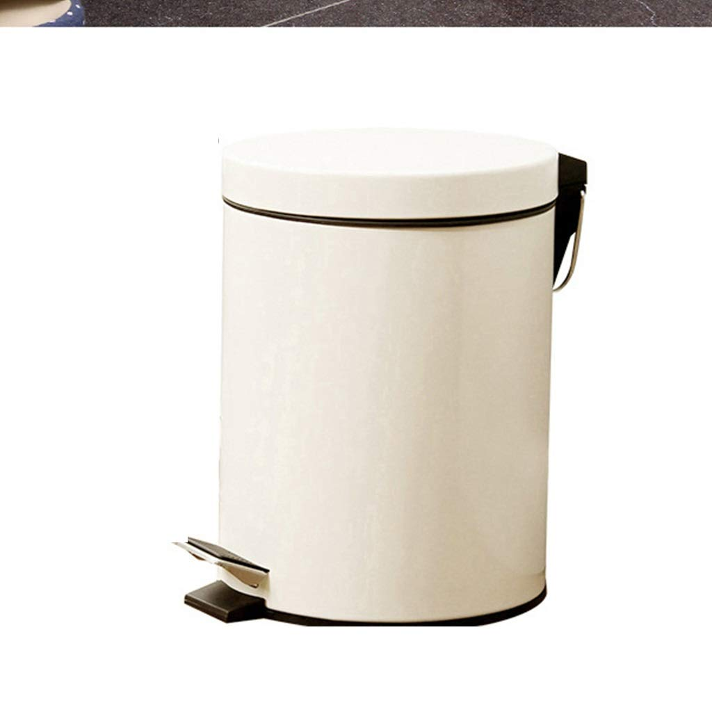 Cunemmo 8 Liter Trash can Pedal-Style European Creative Classification Household Bathroom Kitchen Living Room Bedroom with lid Cleaning Tube by Cunemmo