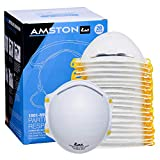 AMSTON N95 Disposable & Foldable Dust Masks - NIOSH-Certified Particulate Respirator For Construction, DIY, Emergency Kits, Home Use (Model 1801-20 Pack)