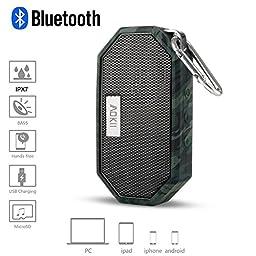 AOKII Waterproof Wireless Speakers,Unbreak waterproof Shockproof Bluetooth Stereo Speakers,outdoor Speakers for Climbing,Cycling, Hiking(Camouflage)