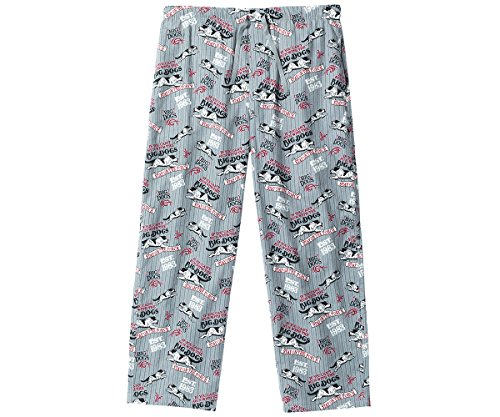 Big Dogs Run with Flannel Lounge Pants 2X Gray ()