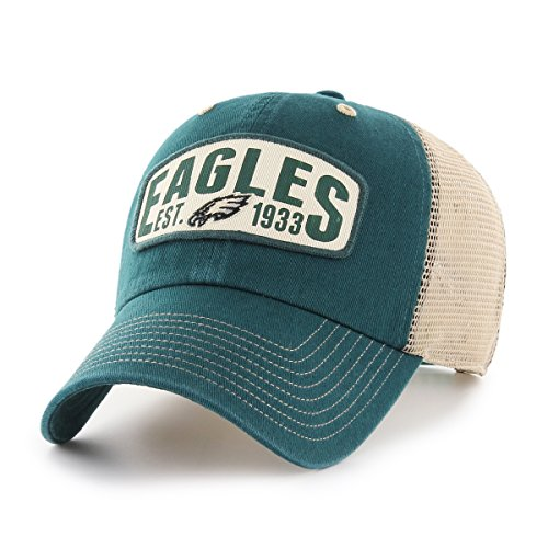NFL Philadelphia Eagles Woodford OTS Challenger Adjustable Hat, Pacific Green, One Size