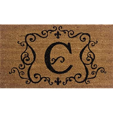 Evergreen 2RM003 Monogram Door Mat, Coir Insert, Letter C, 16-Inches x 28-Inches