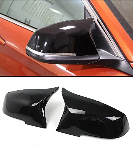 Cuztom Tuning For BMW E84 F20 F22 F30 F32 F33 Painted Glossy Black Replacement Side Mirror Covers Caps - M4 Style (Painted Covers Mirror)