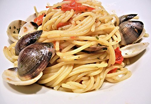 Peel-n-Stick Poster of Basil Food Olive Oil Spaghetti Clams Tomatoes Poster 24x16 Adhesive Sticker Poster Print