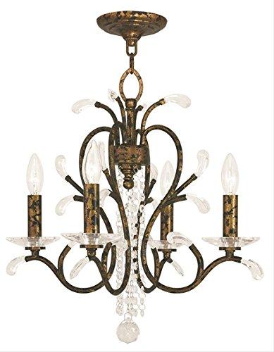 Amazon.com: Mini – Lámpara de techo 4 luz con claros ...