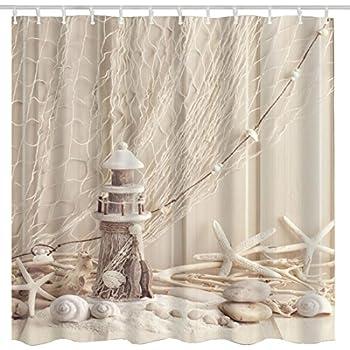Amazon.com: Beach Clear Sea Sand Ocean High Quality Fabric Bathroom ...