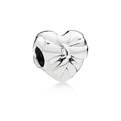 75e68d296 Image Unavailable. Image not available for. Color: PANDORA Brilliant Heart Bow  Charm ...