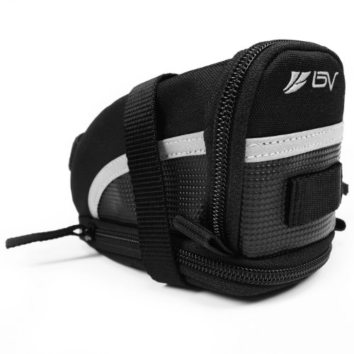 (BV Bicycle Strap-On Bike Saddle Bag / Seat Bag / Cycling Bag)