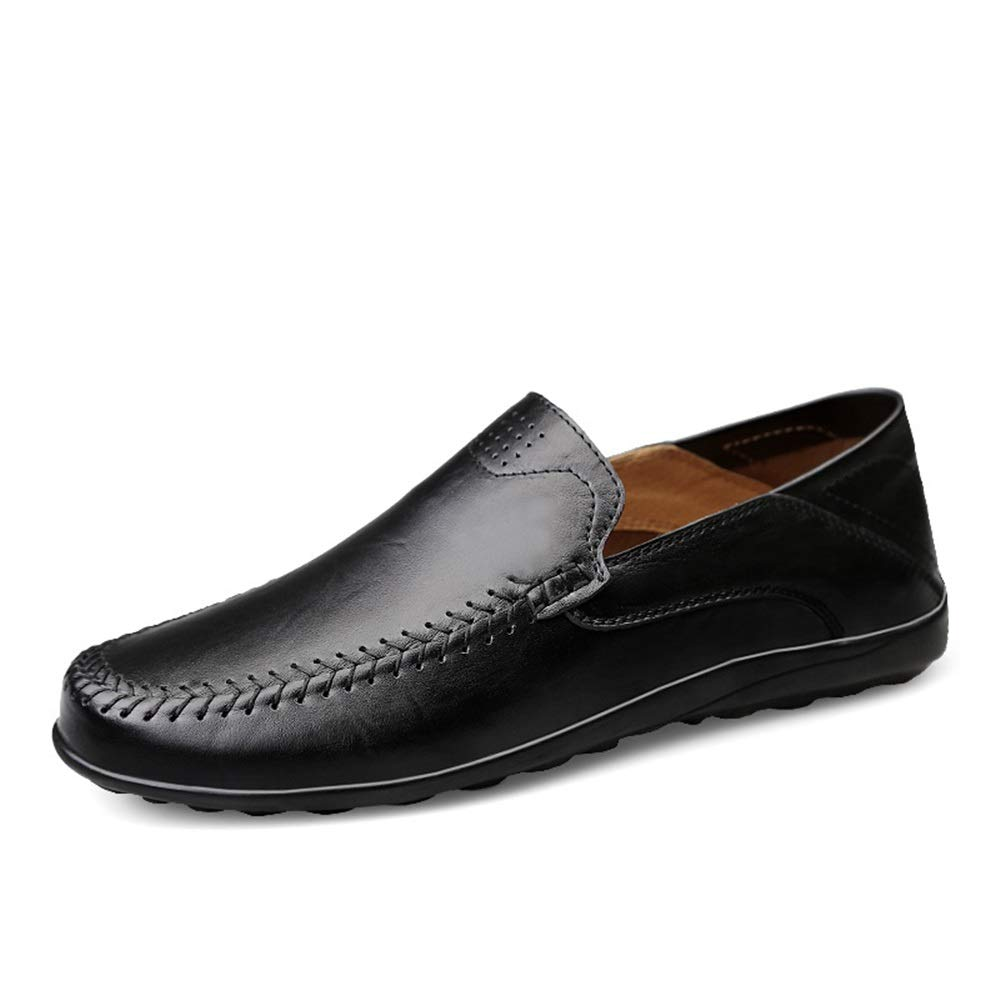 XW_H Men Loafers Shoes Moccasins Leather Hiking Loafers丨Penny Loafers 丨Men Casual Shoes 丨Canvas Shoes for Men 丨Driving Shoes丨Mens Boat Shoes (Color : Black, Size : 6.5 M US)