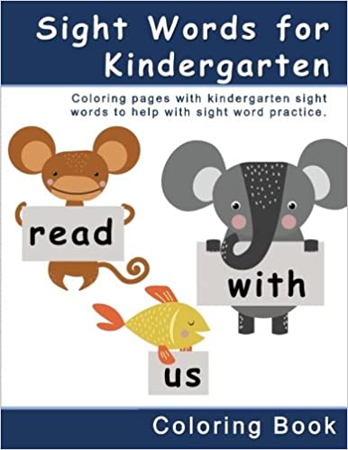 amazon com sight words for kindergarten coloring book coloring