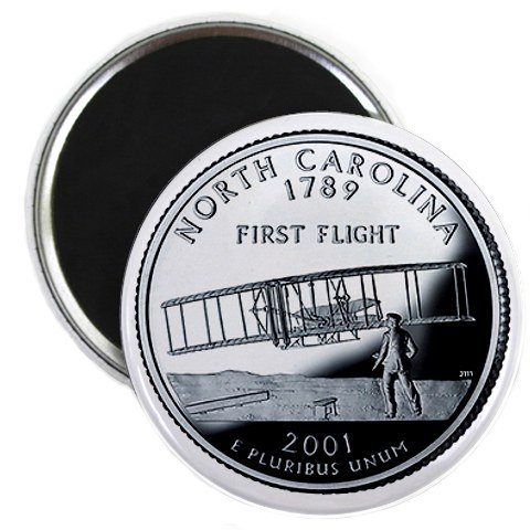 North Carolina State Quarter Mint Image 2.25 inch Fridge Magnet