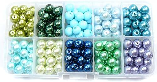 2mm Schmuckherstellung Set 24 Farben Schmuck Armb/änder Perlenset DIY Basteln Perlenschmuck Schmuckbasteln f/ür Machen Kinder Queta Perlen Zum Auff/ädeln