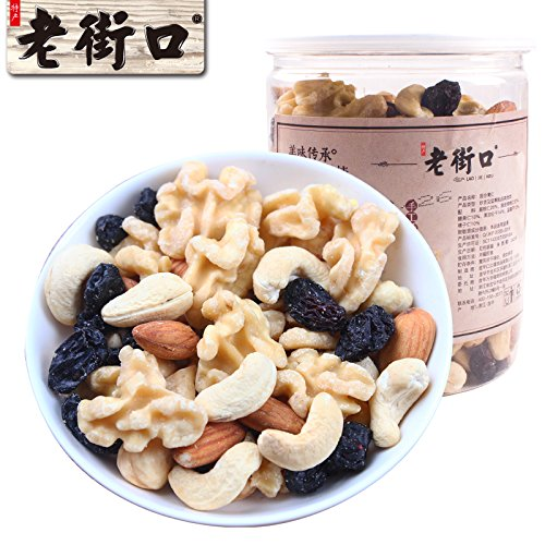 Aseus Chinese delicacies The old street _ mixed nuts [430g] Pregnant flavor mixed nuts adult canned fruit special purchAseus Chinese delicaciess for the Spring Festival