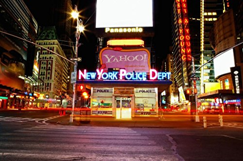 (NYPD Police Department Manhattan Times Square Precinct New York City Photo Art Print Mural Giant Poster 54x36 inch)