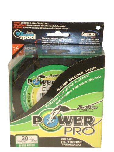 Power Pro 500 Yard Microfilament Line (20-Pound, Green), Outdoor Stuffs