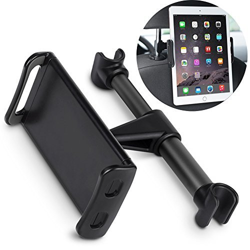 MOREZONE Tablet Holder For Car, Rotatable & Adjustable iPad Car Mount, Car Headrest Mount for CellPhone & iPad Other Devices 4-10.1