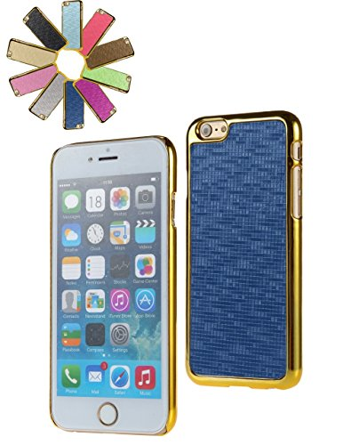Bralexx 7131Gold-7125Blau-KARO Smartphone Case passend für Apple iPhone 6 11,9 cm (4,7 Zoll) gold/blau-Karo
