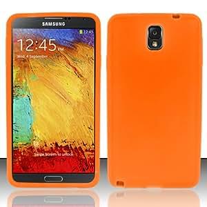 For Samsung Galaxy Note 3 - Silicon Skin Case - Orange SC