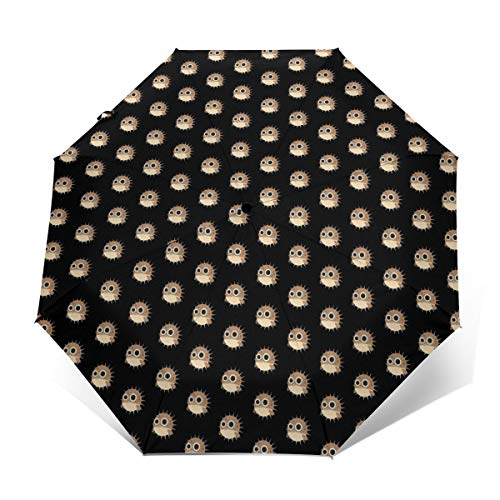 Water Repellent Automatic Umbrellas For Women Men Kids, Outdoor Umbrellas With Teflon Coating/8 Ribs, Auto Open And Close Button, Blowfish Fugu Fish Puffer Fish Umbrellas