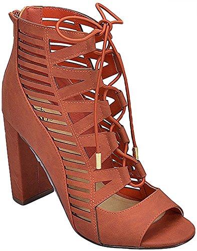 Botín Para Mujer Delicioso Con Cordones Tobias Mve Zapatos, Borh