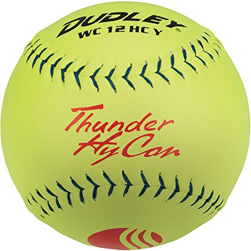 Dudley USSSA Thunder Hycon Slow Pitch Softball - Composite Cover - 12 pack by Dudley