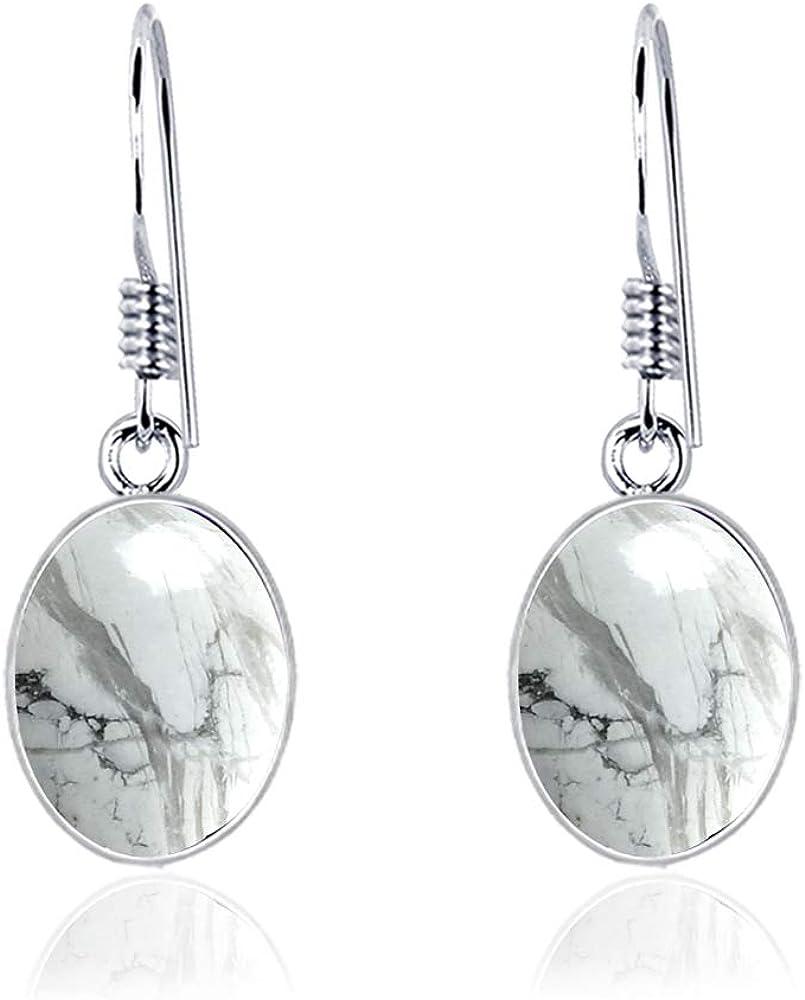 Espumoso Colgar Arete En Ametista,Howlite,Quarzo Limone Plata De Ley 925 Orchid Jewelry
