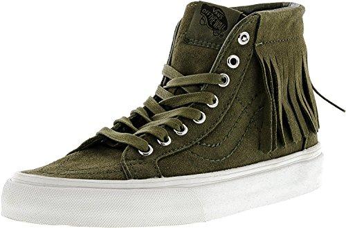 Vans Womens Sk8-Hi Moc Suede High-Top Skateboarding Shoe Ivy Green / Blanc De Blanc ye0hc0lKTM