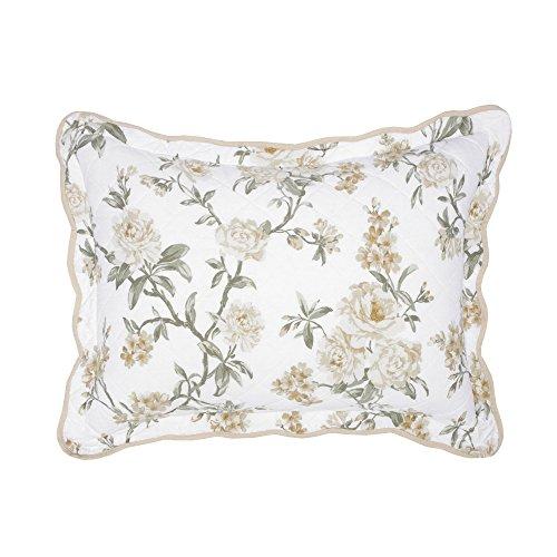 Nostalgia Home Juliette Sham, Standard, White Floral