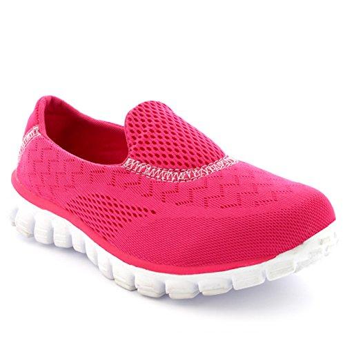 Fit Chaussures Maille Fuschia Athlétique Go Get Femmes Marcher Fonctionnement pg45qgPn