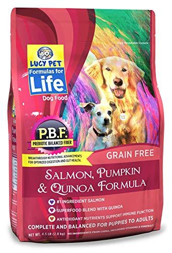 (Lucy Pet Formulas for Life Salmon, Pumpkin & Quinoa Dog Food, 4.5 LB)