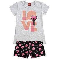 Conjunto Infantil Feminino Blusa + Short Kyly 109186.0467.16