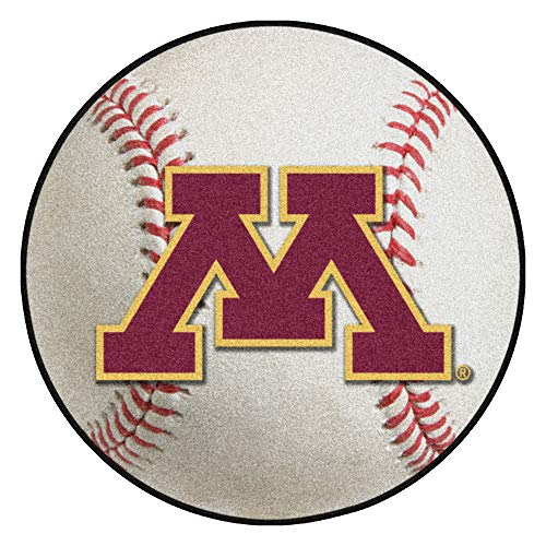 FANMATS NCAA University of Minnesota Golden Gophers Nylon Face Baseball Rug