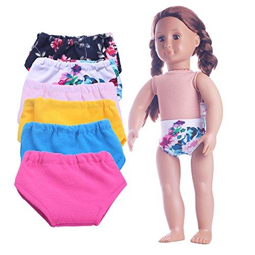 LuckDoll 18 Inch Doll Underwear 6 Set Fits 18 Inch American Girl Dolls