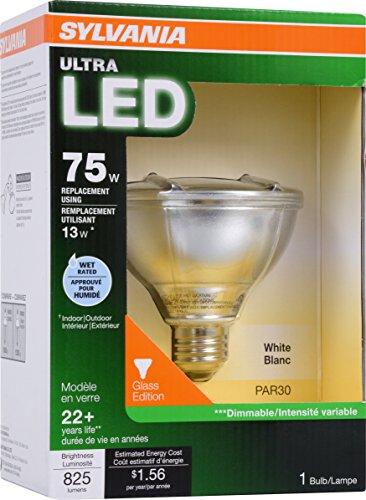 SYLVANIA 75W Equivalent - LED Light bulb - PAR30 Lamp - 1 Pack - Warm White - Wet Rated & Energy Star Qualified ULTRA Line - E26 Medium Base - 13W - 3000K