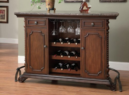 Bar Unit in Warm Brown Cherry Finish by Coaster