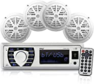 Marine Radio Receiver Speaker Set  12v Single Din Style Bluetooth Compatible Waterproof Digital Boat In Dash Console System