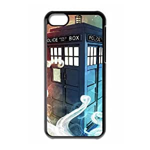 C-EUR Print Doctor Who TARDIS Police Call Box Pattern Hard Case for iPhone 5C