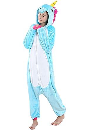 WAQIA in Pajamas Unicorn Onesie Pajamas Kigurumi Cosplay Costumes Animal Outfit