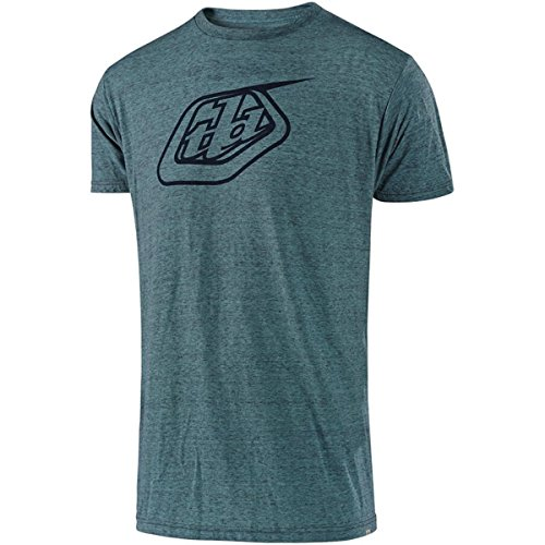Troy Lee Designs Mens TLD Shield Logo Short-Sleeve T-Shirt (Teal/Black, Medium) ()