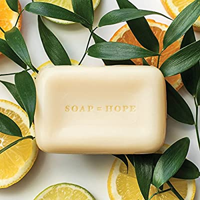 SoapBox Soaps Bar Soap, Citrus & Peach Rose, 3 Count
