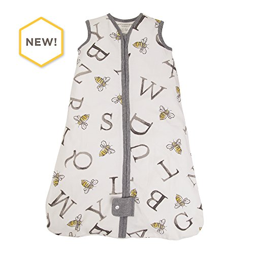 Burt's Bees Baby - Beekeeper Wearable Blanket, 100% Organic Cotton, A Bee C Cloud (Medium)