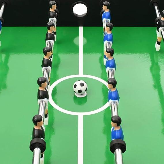 Festnight Futbolín Plegable Futbolines para Niños Negro 121x61x80 ...